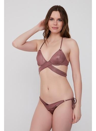 Plumeria Swimwear Üçgen Bikini Takımı Bronz